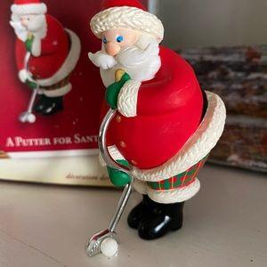 Vintage Hallmark Ornament A Putter for Santa